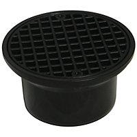 FloPlast Underground Drainage Round hopper & grid (Dia)215mm, Black