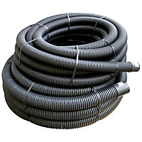 FloPlast Land Drainage Flexible coil pipe (Dia)100mm, Black