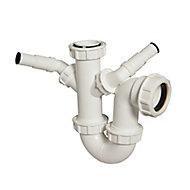 FloPlast Double nozzle trap (Dia)40mm