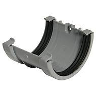 FloPlast Miniflo Gutter union bracket (Dia)76 mm, Grey
