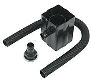 FloPlast Square/Round Gutter rainwater diverter, Black