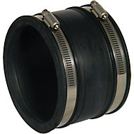 FloPlast Underground Drainage Flexible coupling (Dia)115mm, Black