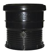 FloPlast Ring Seal Soil Coupling (Dia)110mm, Black