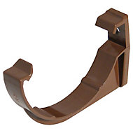 FloPlast Miniflo Gutter fascia bracket (Dia)76mm, Brown, Pack of 2