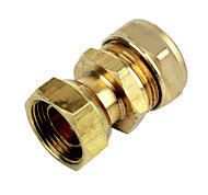 Plumbsure Compression Straight tap connector (Dia)22mm