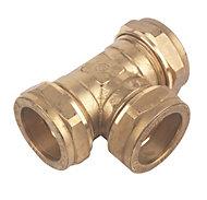 Plumbsure Compression Equal tee (Dia)28mm
