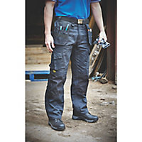 "DeWalt Pro Tradesman Black Men's Trousers, W38"" L29"""