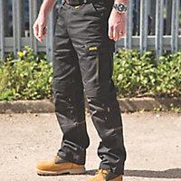 "DeWalt Ridgeley Black Trousers, W34"" L32"""