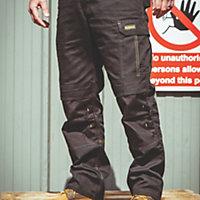 "DeWalt Ridgeley Black Trouser W36"" L32"""