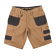 DeWalt Heritage Black & tan Shorts W34""