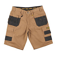 "DeWalt Heritage Black & tan Shorts W34"""