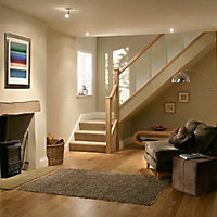 Reflections Contemporary Oak Square Half newel post (H)1500mm (W)45mm