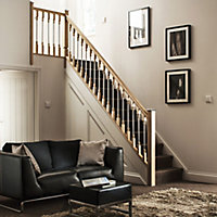 Contemporary Unfinished Oak Cottage loaf Handrail (W)56mm