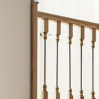 Solo Unfinished Metal & wood Half newel cap (L)110mm (W)49mm