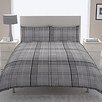 Chartwell Dublin Check Black Double Bedding set