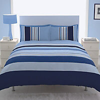 Chartwell Striped Blue King Bedding set
