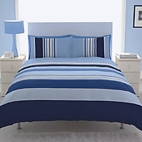 Chartwell Barcode Striped Blue Single Bedding set