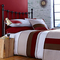 Chartwell Striped Red King Bedding set