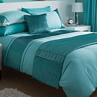 Chartwell Como Striped Turquoise Double Bedding set