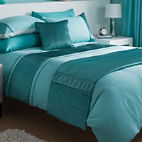 Chartwell Como Striped Turquoise Single Bedding set