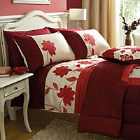 Chartwell Annabel Floral Red King Bedding set