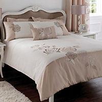 Chartwell Floral Pink & white Single Bedding set