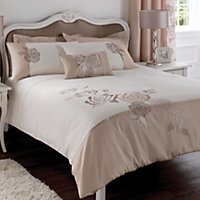 Chartwell Rosa Floral Pink & white Double Bedding set