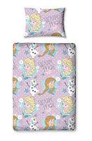 Disney Frozen Anna & Elsa Multicolour Junior Bundle bed set