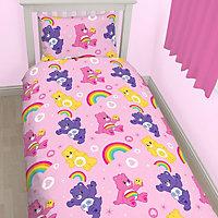 Care Bears Reversible Multicolour Single Bedding set