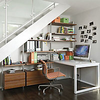 Relax Walnut effect Shelf kit (W)550mm (D)500mm, Set