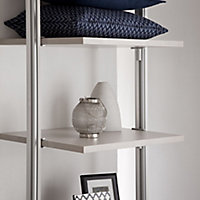 Relax Cream linen effect Shelf kit (W)550mm (D)330mm