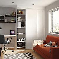 Shaker White Sliding Wardrobe Door (H)2220mm (W)610mm