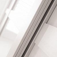 Shaker White Sliding Wardrobe Door (H)2220mm (W)762mm