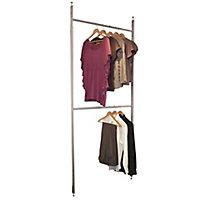 Spacepro Aura White metallic effect Wardrobe Storage kit (H)2700mm (W)1350mm (D)500mm