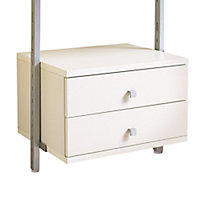 Spacepro Aura White Small Drawer kit (H)350mm (W)550mm (D)500mm