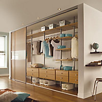 Spacepro Aura Oak effect Shelf (L)550mm (D)500mm