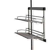 Spacepro Aura Silver effect Sliding Shoe rack (H)485mm (W)280mm