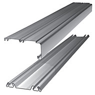 Shaker Silver effect Sliding wardrobe door track (L)1803mm