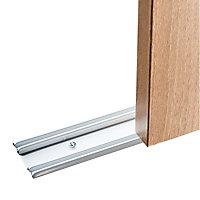 Shaker White Sliding wardrobe door track (L)1803mm