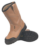 Site Gravel Tan Rigger boots, Size 10