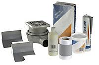 Aquadry Wet room waste & waterproofing kit