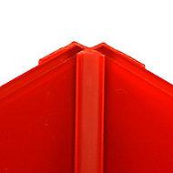 Vistelle Vistelle Red Straight Panel internal corner joint, (L)2500mm