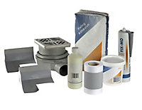 Aquadry Square Shower tray kit (L)900mm (W)900mm (D)45mm