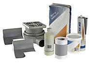 Aquadry Rectangular Shower tray kit (L)1200mm (W)900mm (D)45mm