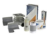 Aquadry Square Shower tray kit (L)1200mm (W)900mm (D)150mm
