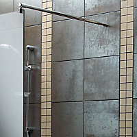 Aquadry Wet room glass screen kit, (W)690mm