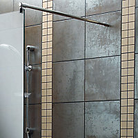 Aquadry Wet room glass screen kit, (W)790mm