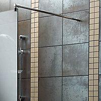 Aquadry Wet room glass screen kit, (W)890mm