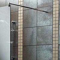 Aquadry Wet room glass screen kit, (W)1190mm