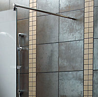 Aquadry Wet room glass screen kit, (W)390mm
